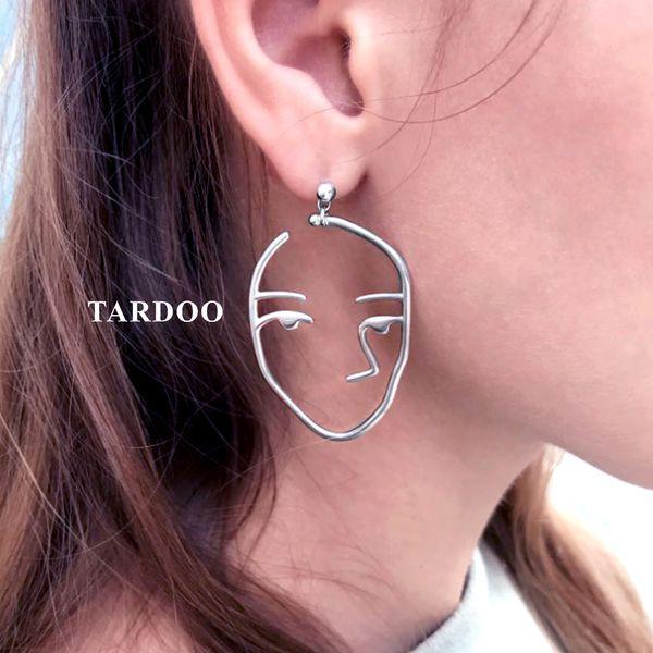 Tardoo Fabulos Genuine 925 Sterling Silver Stud Earrings for Women Hunan Face Modelling Personality Earrings Brand Fine Jewelry Y18110503