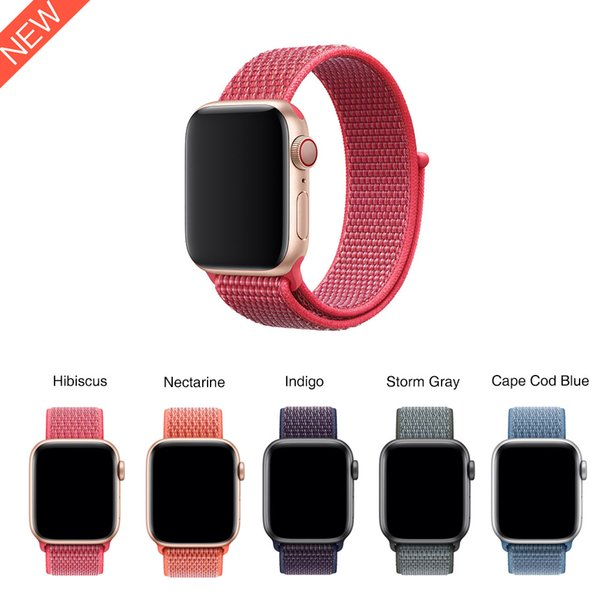2018 New Nylon Loop for Apple Watch Series4 40mm /44mm Soft Breathable Woven Nylon Strap Fit For Apple Watch Series3 38mm/42mm
