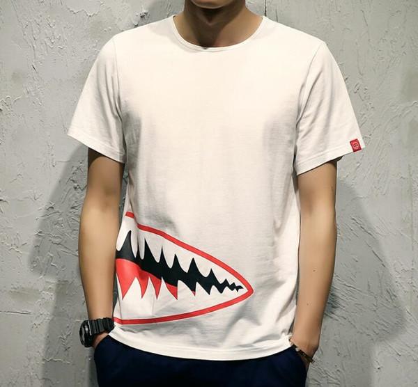 Été Designer T-shirts pour hommes Hauts Mouth Motif Vêtements pour hommes manches courtes T-shirt des hommes Hauts Streetwear Mode Tide