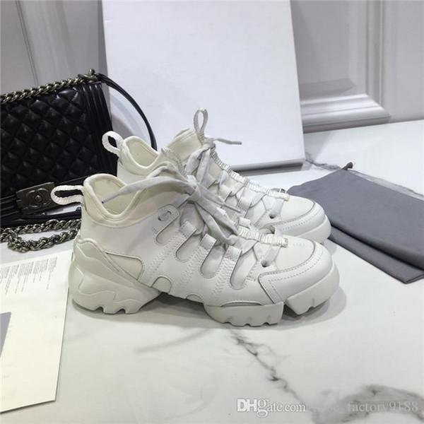 Diseñador de moda 2019 Floral Mujer Zapatillas de deporte Mujer Neopreno Grosgrain Ribbon D-Connect Zapatos, Lady Wrap-around Suela de goma Zapatos casuales