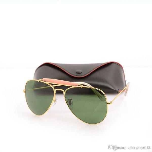 10PCS Unisex glasses Glass Lens Mens Suns glasses pilot Brand Designer Womans Sunglasses UV protection Sun glasses brand with Original cases
