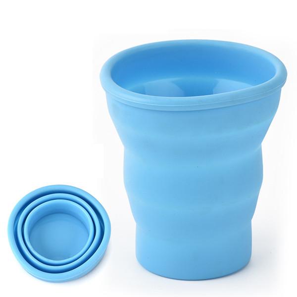 Réductibles tasses à café portable Tasse silicone pliable mode Bouteille d'eau pliable tasse à café avec isolé Coupe W9595