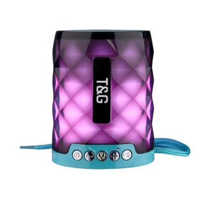 2019New TG155 LED-Licht Bluetooth-Lautsprecher mit Freisprech-Mikrofon-Unterstützung TF-Karte FM Mini LED bunte Lichter Lampe im Freien wasserdichter Subwoofer