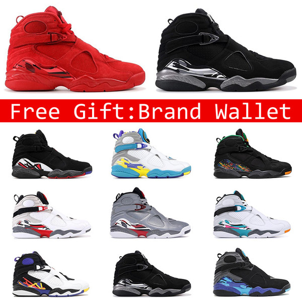 2019 New 8s Men Basketball Shoes High Top VALENTINES DAY Tinker White Aqua 3PEAT Reflections Of A Champion Fashion 8 Jumpman Mens Sports Sneakers From