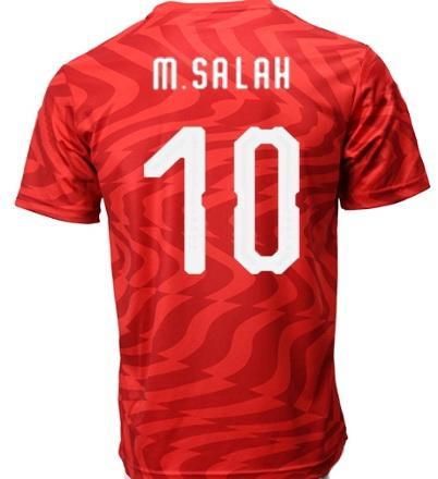 Descuento personalizado de Egipto 19-20 Home RED 10 M.SALAH Camisetas de jersey de fútbol de calidad tailandesa TOPS, personalidad popular al por mayor Personalizado Fútbol Desgaste