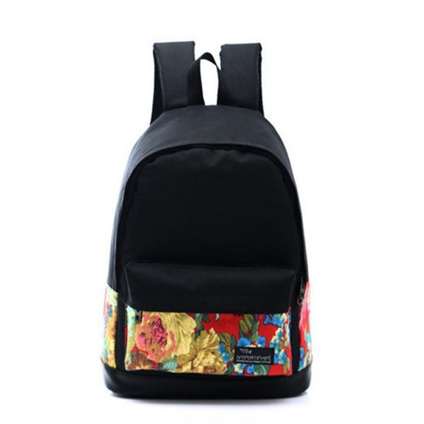 Hot Sale Fahsion Women Canvas Printing Backpack Ladies Girls Preppy Style School Book Bags For Laptop Vintage Rucksack