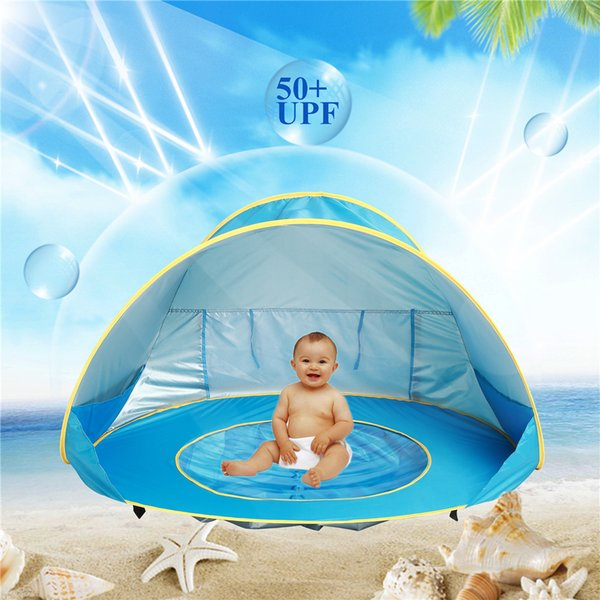 Baby Beach Tent blue pink orange 3 colors Portable Shade Pool Outdoor Sun Protection Pool Sun Shelter for Infant