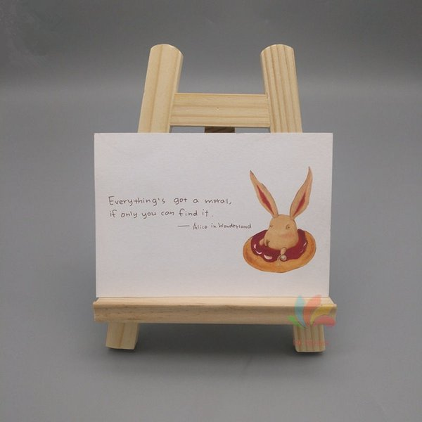 2019 Natural Wood Mini Easel Frame Display Meeting Wedding Table Number Name Card Stand Display Holder F20174034 From Lindsay Sz 2 62 Dhgate Com