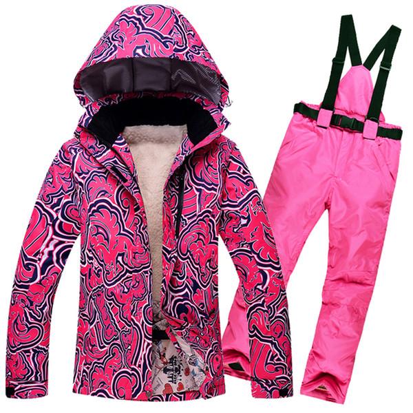 2018 New Brands Men Women Ski Suit Winter Outdoor Waterproof Skiing snowboard Set Suit Jacket Pants Snow Couple skiing Clothes