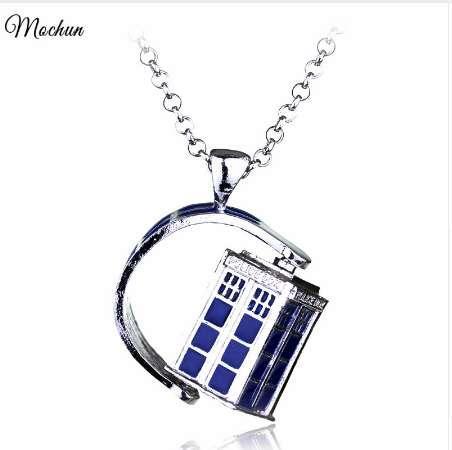 MQCHUN Dr. Mysterious Polizei Box Haus Legierung Anhänger Neckalces Doctor Who Halskette Halloween Anhänger Film Schmuck Weihnachtsgeschenk