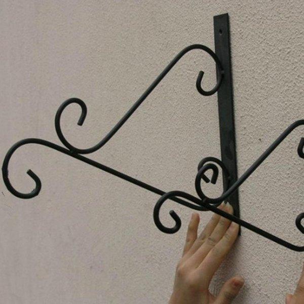 Accessori di stile Lanterna Candeliere Ferro Ganci balcone europea Bianco Nero decorativa dell'interno epoca in ferro battuto Retro