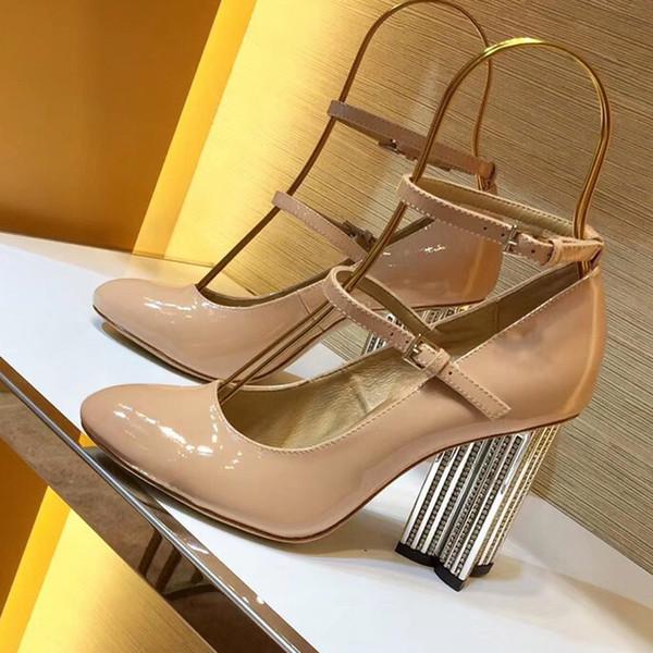 Klassische Frauen Marke Roter schuh High Heels Patent LeatherToe Kleid Schuh Luxus Flachen Mund Sohle Hochzeit Schuhe
