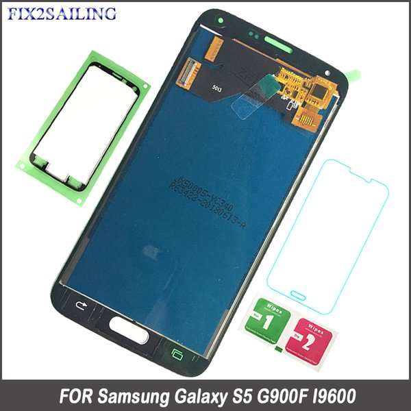 For Samsung S5 LCD G900F Display LCD Screen Touch Digitizer Assembly for Samsung Galaxy S5 G900 G900F Brightness Adjustment