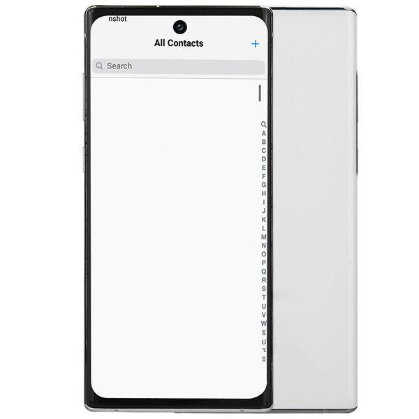 top popular 3G WCDMA Goophone N10+ 1GB 16GB+32GB Face ID Android 9.0 6.8 inch Full Screen 1440*720 HD+ 3 Cameras Fingerprint Smartphone Aura White Black 2019