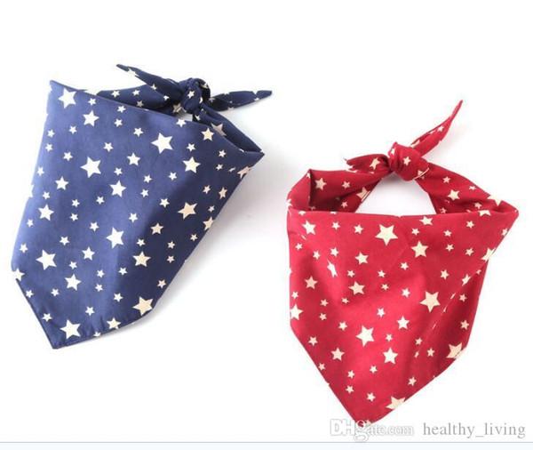 Dog Star Triangle Bandanas Einstellbare Haustier Hund Katze Halstuch Krawatte Fliege Krawatte Bandana Kragen Halstuch Mode Hundezubehör Pflege