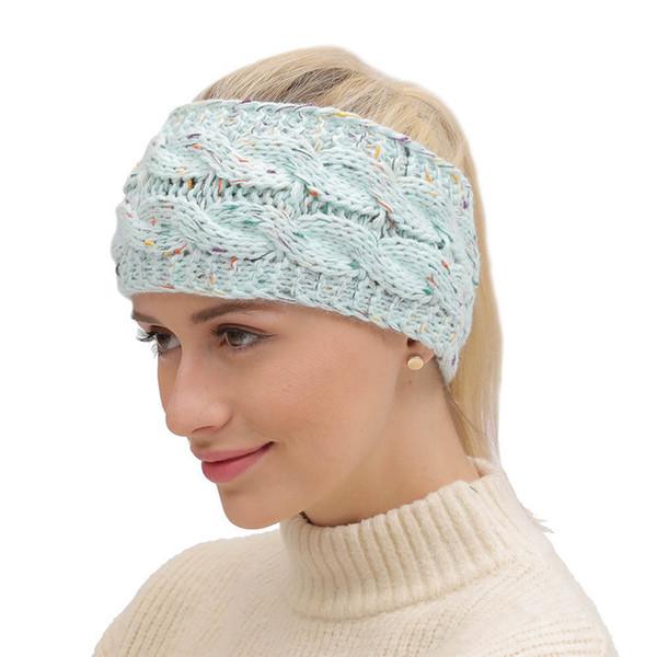 DHL Free Shipment 21 Colors Knitted Crochet Headband Women Winter Sports Headwrap Turban Head Band Ear Warmer Beanie Cap