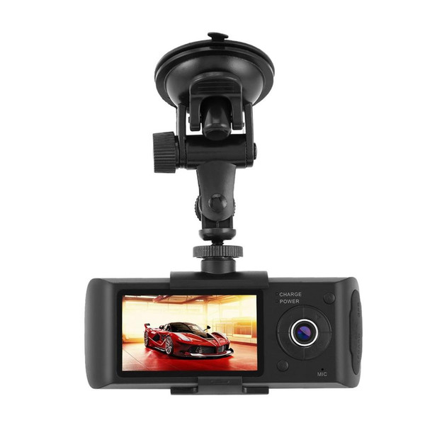 Dual Lens GPS Camera HD Car DVR Dash Cam Video Recorder G-Sensor w// Night Vision