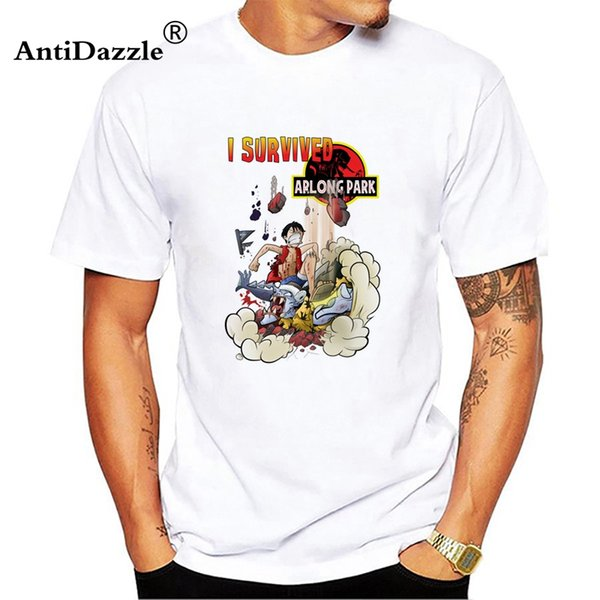 2018 Fashion onepiece T Shirt Men Short Sleeve Cotton T-Shirts O-Neck Men Clothing Tops White