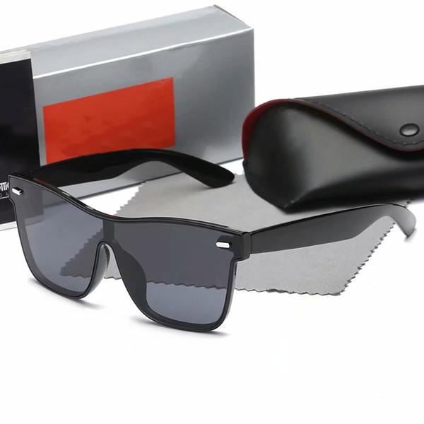Rand tasarımcı erkek ve kadın güneş gözlüğü düz cam lens kedi göz güneş gözlüğü perakende durumda ve deri ile uv400 gözlük gözlük
