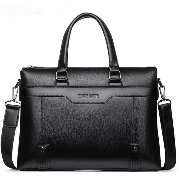 2019 Fashion Business Men Briefcases Bag PU Leather Handbag Laptop Bag Casual Vintage Man Bag Shoulder Bags