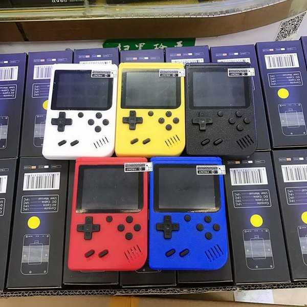 top popular Mini Handheld video Game Console Portable Retro 8 bit MODEL CAN STORE 400 AV Color LCD Game Player For Game 2020