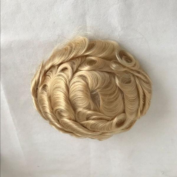 Blonde Toupee Postiche French Lace Toupee Pour Hommes 613 Couleur Dentelle Avant Hommes Toupee Système De Remplacement Humain Cheveux Hommes Perruque