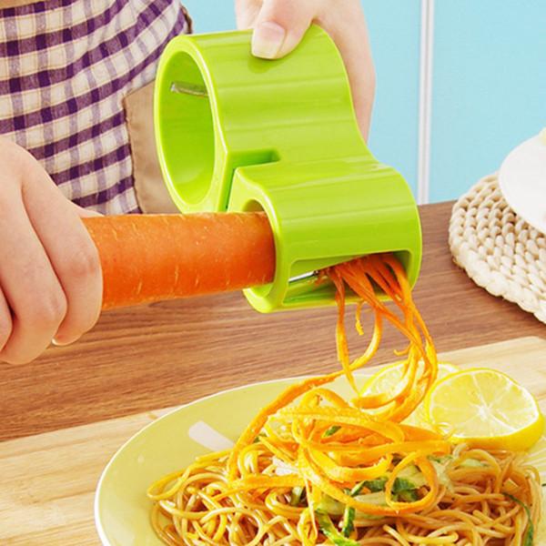 Ralador 3-em-1 afiador de facas 2 tamanho furos descascador cenoura vegetal Espiral ralador de frutas ferramenta vegetal