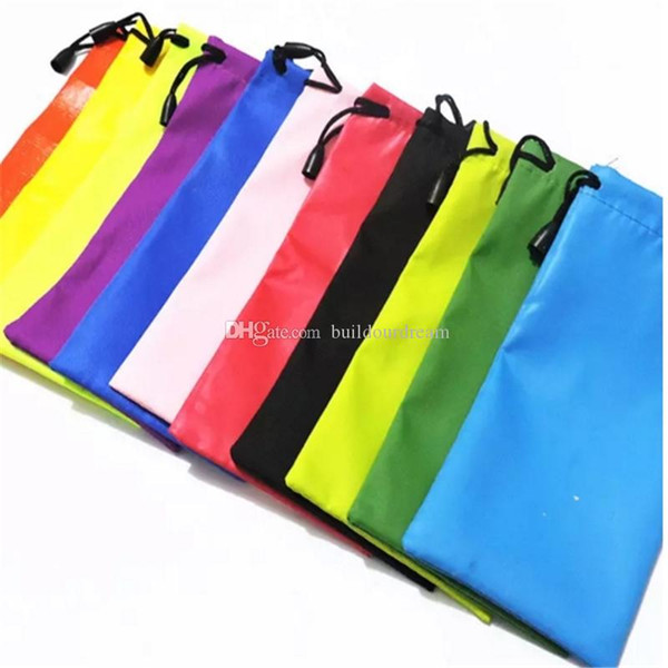 500pcs High Quality Candy Color Plastic Sunglasses Pouch Soft Eyeglasses Bag Glasses Phone bags Drawstring Sunglasses Cases 2017092108