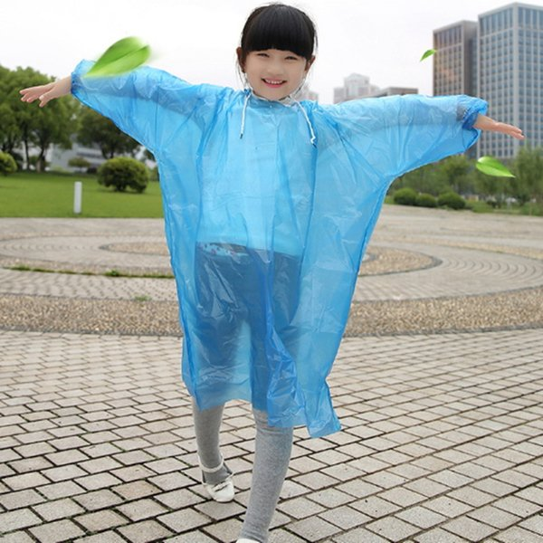 Kinder Regenmantel Einweg PE Kid Must Regenmäntel Einmalige Poncho Regenbekleidung Regenbekleidung Reise Regenmantel Einmaliges Werkzeug im Freien