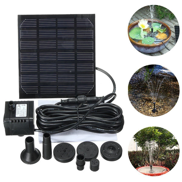 top popular Solar Water Brushless Water Pump For Fountain Garden Small Type Solar Power Fountain Pool Garden Landscape Aquarium Water Pump 2021