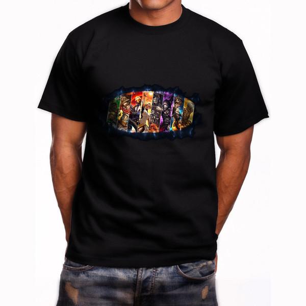 Top tee Heroes T shirt Inspired Video Game Mens Geek Black T-Shirt Size S-3XL
