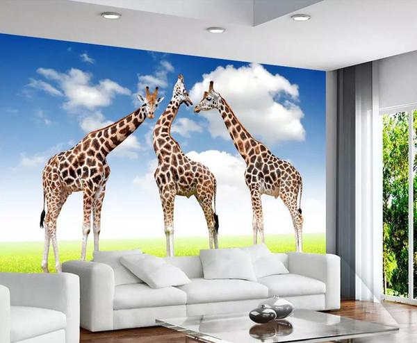 Großhandel Benutzerdefinierte Fototapete Kinderzimmer Tierwelt Traum  Giraffe 3D Hintergrund Wand Von Chinamural2015, $28.15 Auf De.Dhgate.Com |  Dhgate
