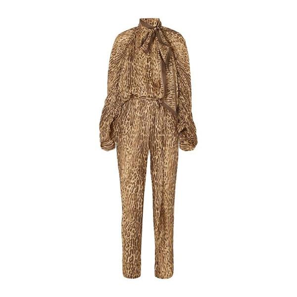 Pantalon pour femmes costume mode léopard bulle manches chemise veste pantalon taille haute crayon deux pièces