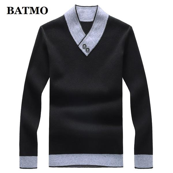 BATMO 2019 nova chegada outono camisola casual de alta qualidade homens, camisola dos homens, plus-size M-8XL
