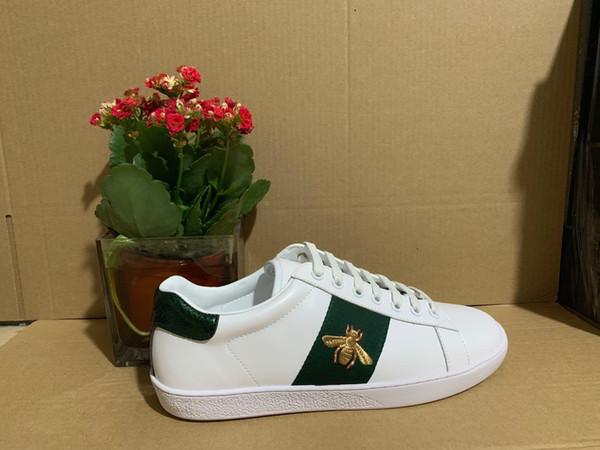 chaussures Designer abeille bande verte broderie de qualité supérieure snaker chaussures ace casual baskets design avec boîte orinigal L03