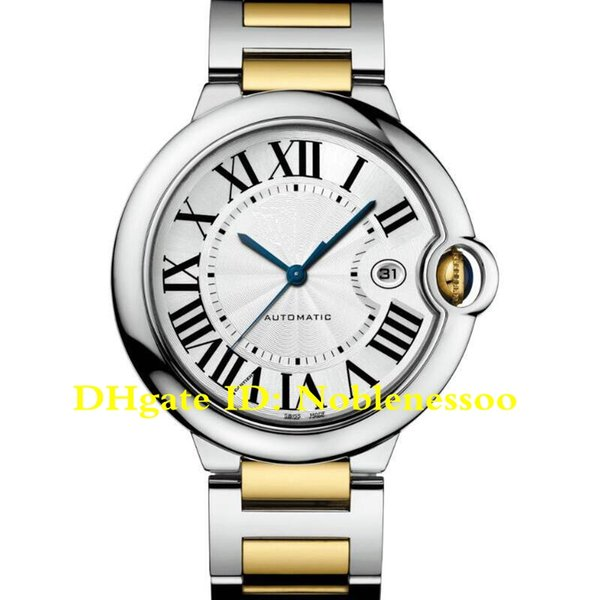 12 Color in Original Box Classic Automatic Watch Luxury Men's 42MM Stainless Steel and 18K Yellow Gold Ref W2BB0022 W69016Z4 Mens Watches