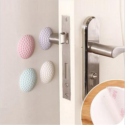 top popular 5cm Golf Modelling Rubber Fender Handle Door Lock Protective Pad Anti Collision Home Wall Stickers Thicken Mute Fenders 4 Colors DBC BH2915 2021