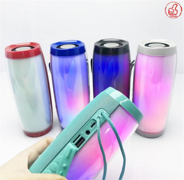 TG157 Lampe LED Portable haut-parleur étanche Radio Fm sans fil Mini Boombox colonne Subwoofer Sound Box Mp3 USB Téléphonie Informatique Basse DHL