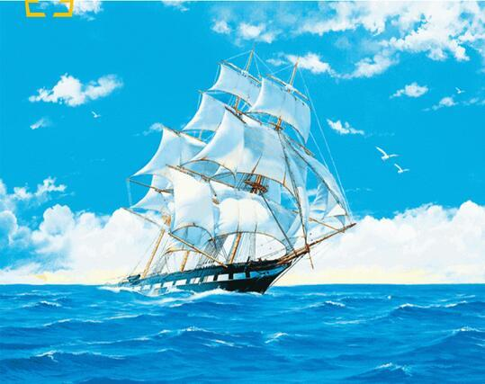 40x50cm canvas sea sailing ship paintings for painting wall paintings for living room home decor Gift poster