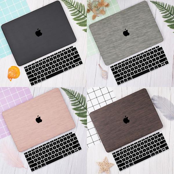 Padrão de tecido caso laptop para macbook pro retina 12 13 15 polegada barra de toque 2019 2018 shell manga + tampa do teclado
