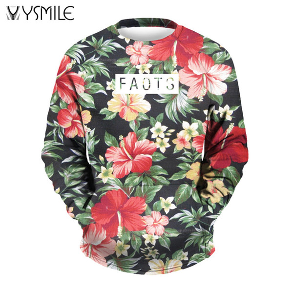 Brand Men&Women Sweatshirts Floral 3d Print Hoodies Harajuku Pullovers Streetwear Hip Hop Tracksuits Autumn Spring Outwears