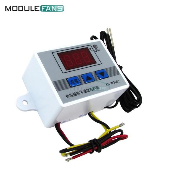 W3002 12 فولت / 24 فولت / 110 فولت 220 فولت led الرقمية تحكم ترموستات منظم الاستشعار الاستشعار الثلاجة الثلاجة مياه التبريد