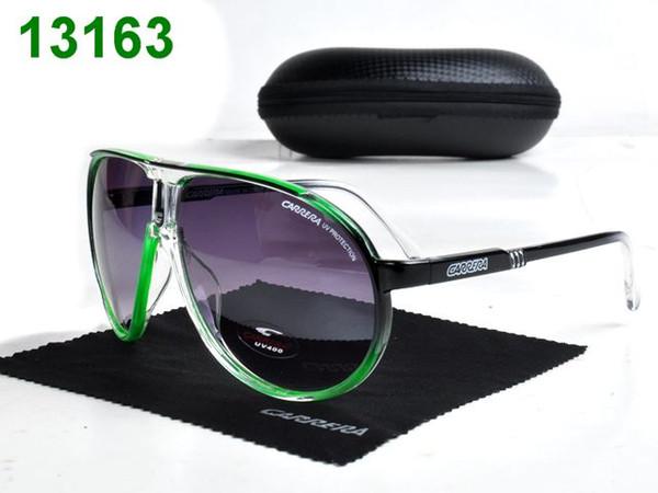 nagelneue Art und Weisezusätze Mannsonnenbrillefrauen-Sonnenbrille bester Entwerfer schwarze Qualitäts-UV400 Objektiv Unisex mit Kasten 1-2