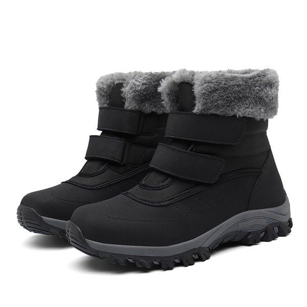 Kış Boots Kadınlar Bilek Boots Sıcak PU Peluş Kış Kadın Ayakkabı Sneakers Flats Lace Up Bayan Ayakkabıları Kadınlar Kısa Kar