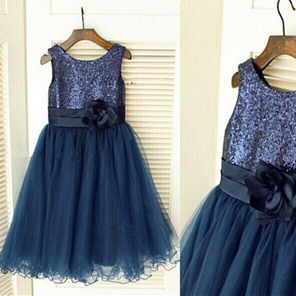 Fashionable Glitz Cupcake Girls Pageant Dresses Pearl Flower Girls Dress Wedding Birthday Party Gowns Mini Custom Made