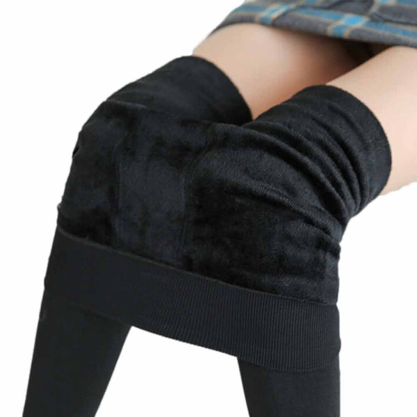 Hot 2019 New Fashion Women's Autumn And Winter High Elasticity And Good Quality Thick Velvet Pants Warm Leggings #F