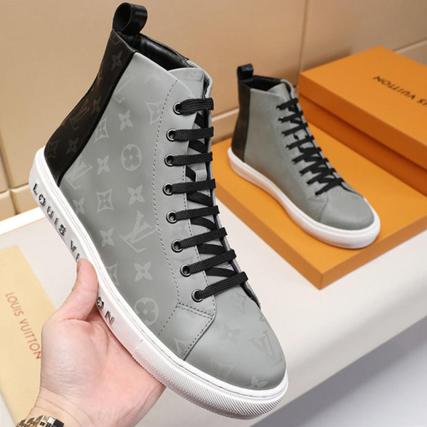top popular Mens Shoes Casual Top Quality Lace-Up Footwears Zapatos de hombre Luxury Fashion Boots Tattoo Bottes Hommes Men Shoes Casual Luxury Design 2019