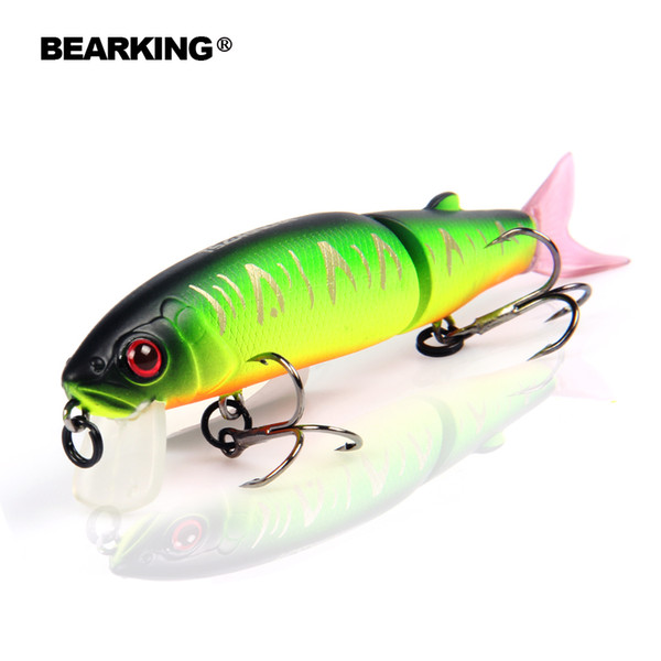 2 pcsBearking 2016good Fishing Lure Minnow Quality Professional 11.3cm 13.7g Swim Jointed Bait Equipped Black Or White Hook C19041201