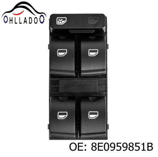best selling HLLADO Hiqh Quility Electric Powert Master Window Switch Button 8E0959851B 8E0959851 For A u di A4 B6 A4 B7