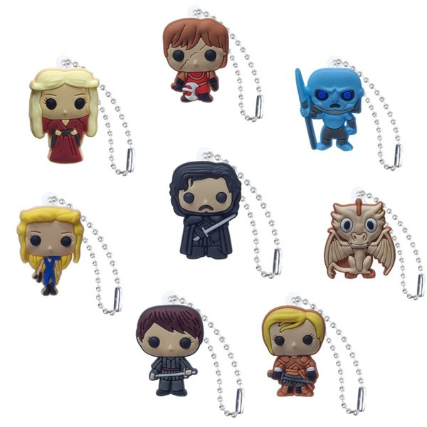 Game of Thrones Action Figure High Quality PVC Keychain Key Ring Anime Key Chain Fashion Accessories Packed Kawaii Party Favors Kid Gift